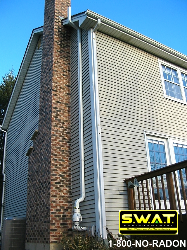 exhaust duct - Radon mitigation system